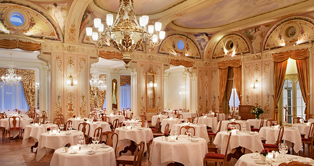 Grand Hotel Kronenhof Dining Room