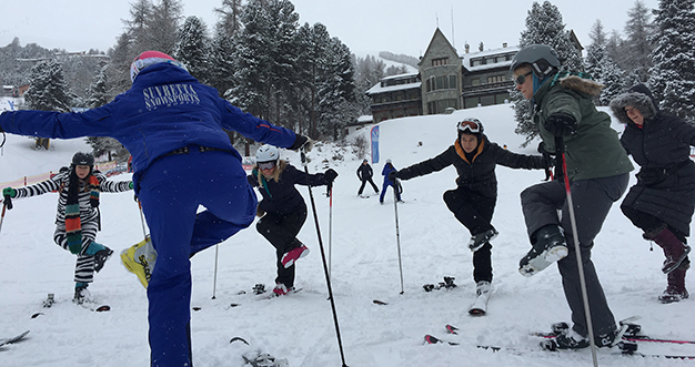 Ski Yoga at Grand Hotel Kronenhof