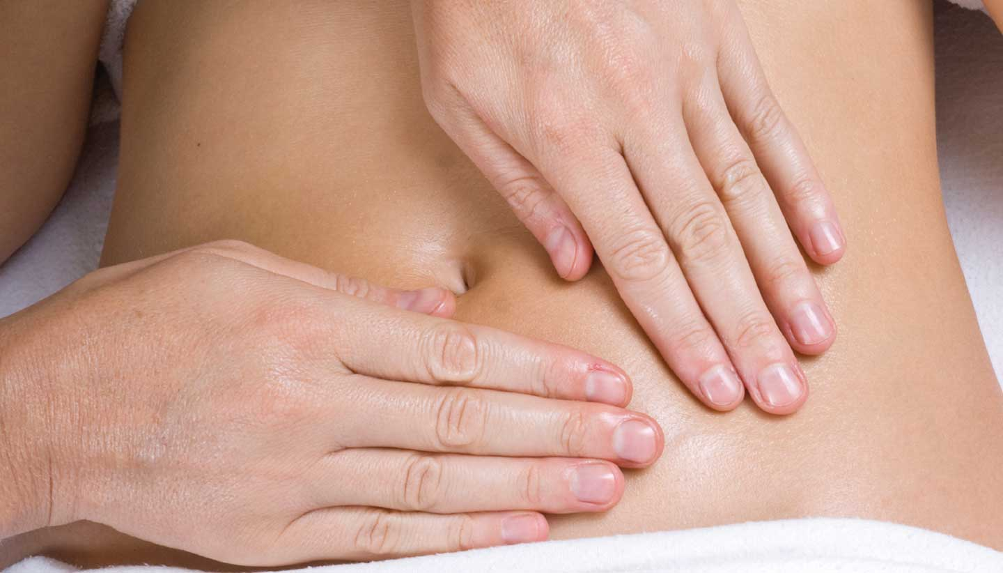 Stomach massage at Grayshott Medical Spa
