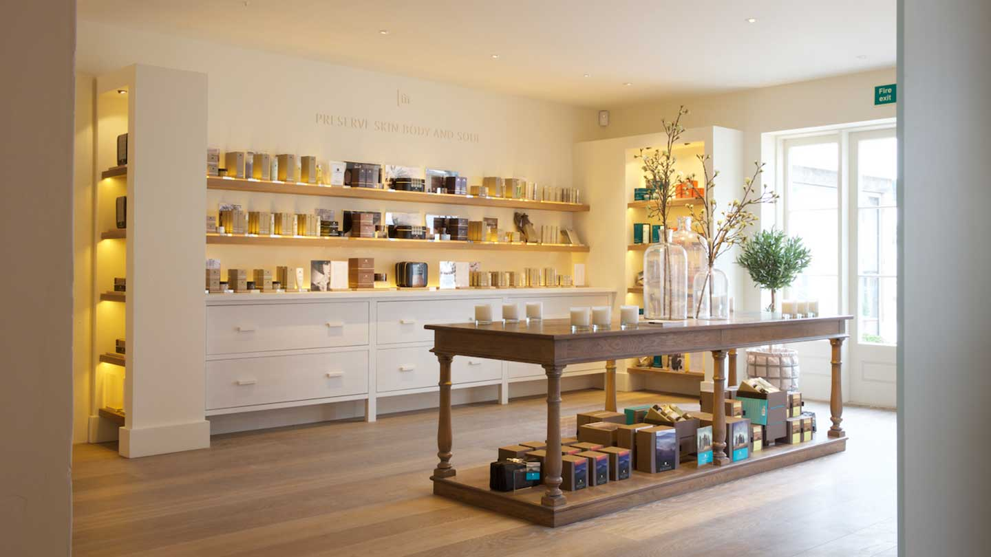 Temple Spa Retail space at Weavers' House Spa
