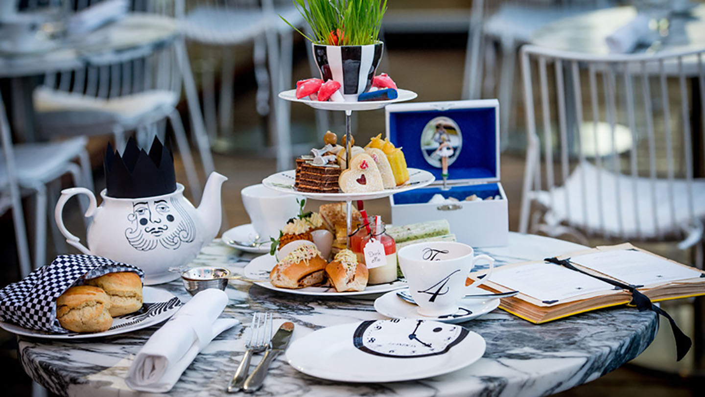 Sanderson Mad Hatter Tea Party