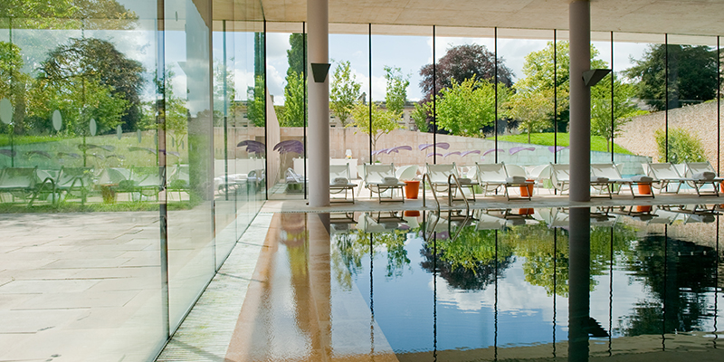 C-Side at Cowley Manor's swimming pool