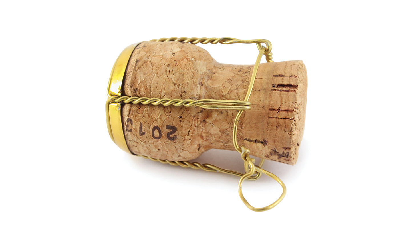 Christmas nutrition - champagne cork