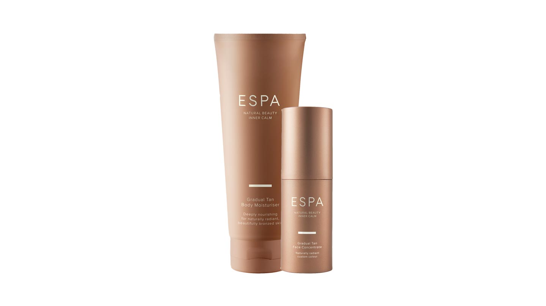 ESPA Gradual Tan Body Moisturiser (200 ml; £34) and Gradual Face Tan
