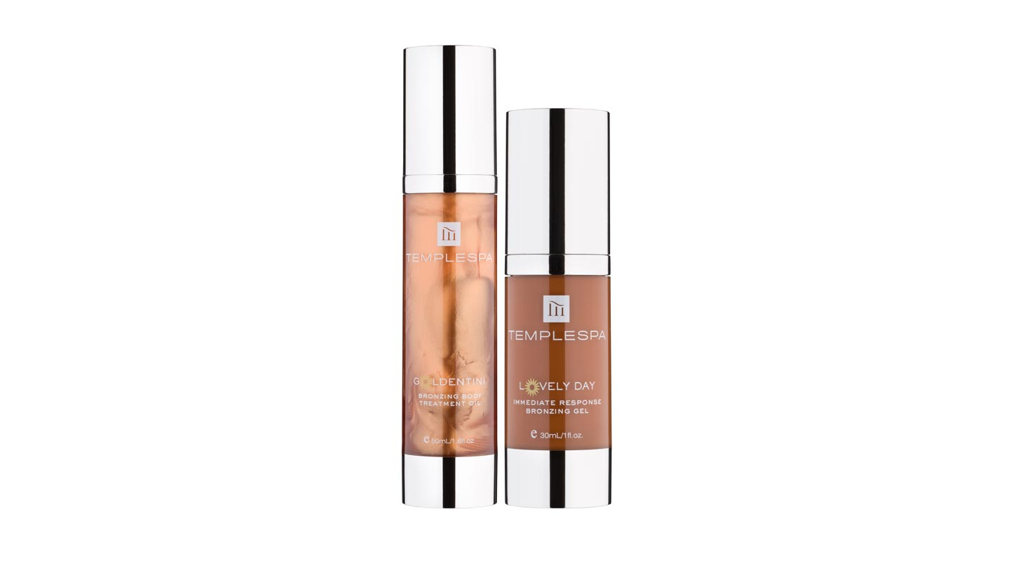 Temple Spa Lovely Day Immediate Response Bronzing Gel and Goldentini Bronzing Oil