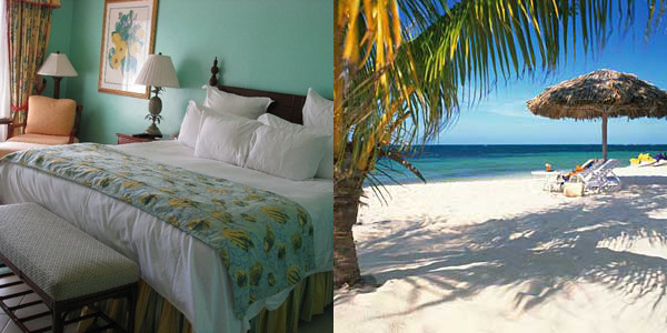 A bedroom and the beach!