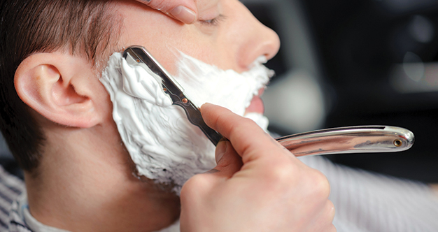 Man having a shave