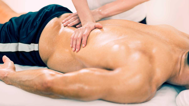 Male sports massage