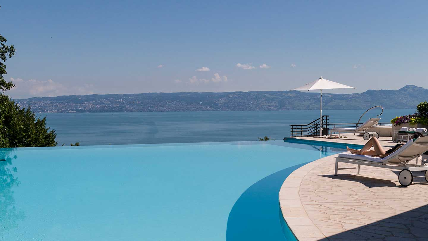 Infinity Pool at Spa Evian Source At The Hotel Royal