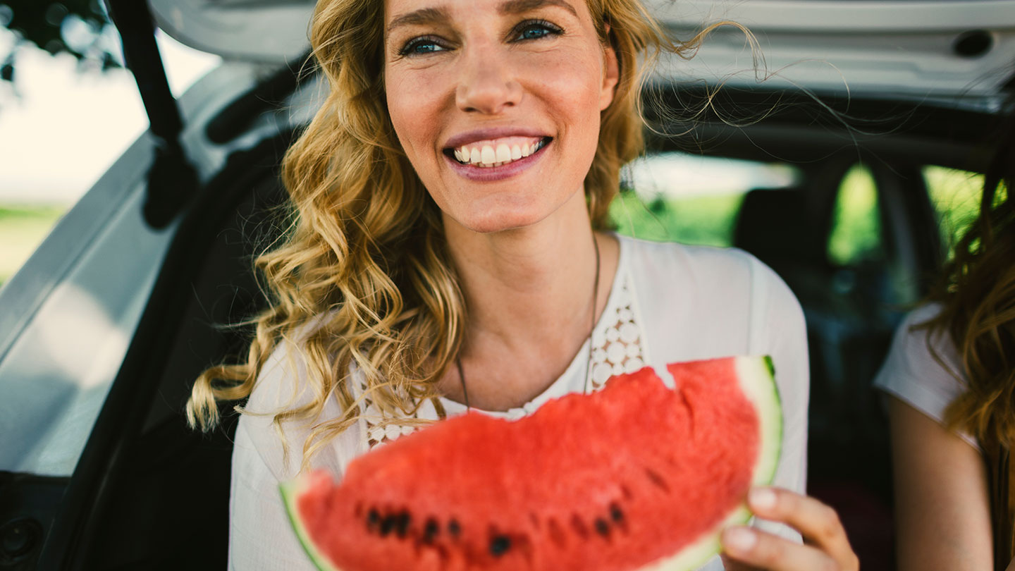 woman-eating-watermelon