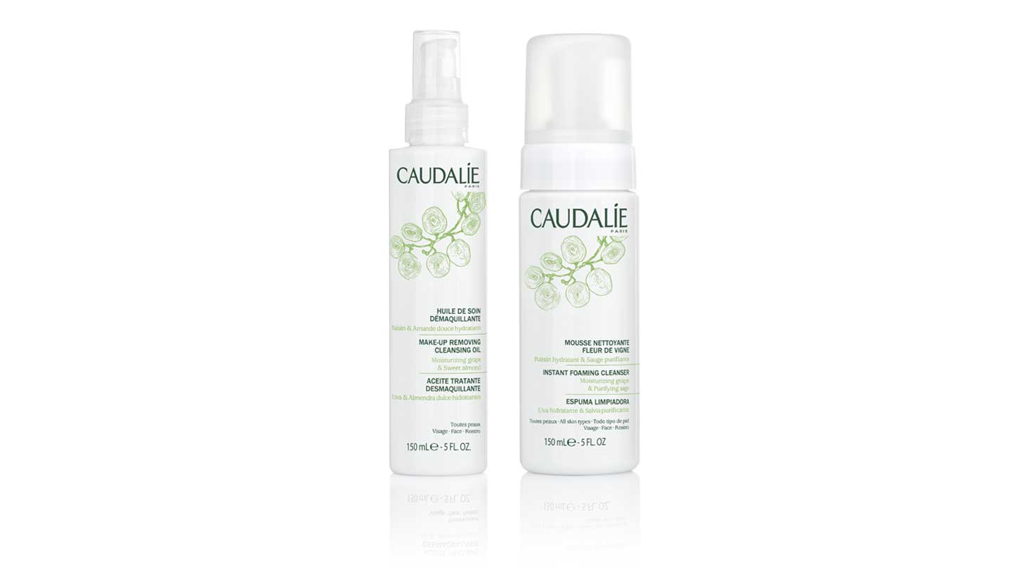 Caudalie Make-up Removing Cleansing Oil and Instant Skin Foaming Cleanser