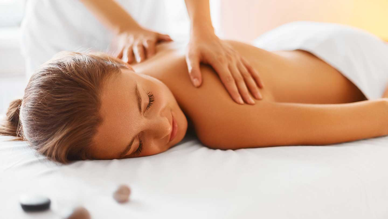 Teenager having a massage