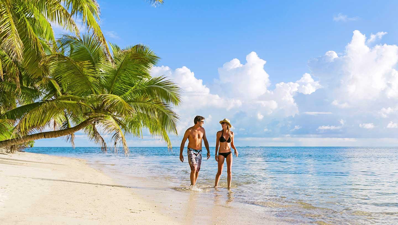 Alphonse Island couple on beach