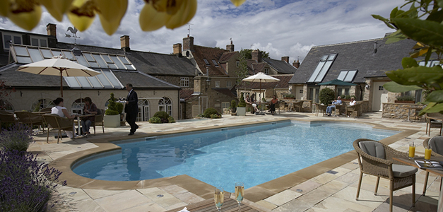 The pool at The Feversham Arms