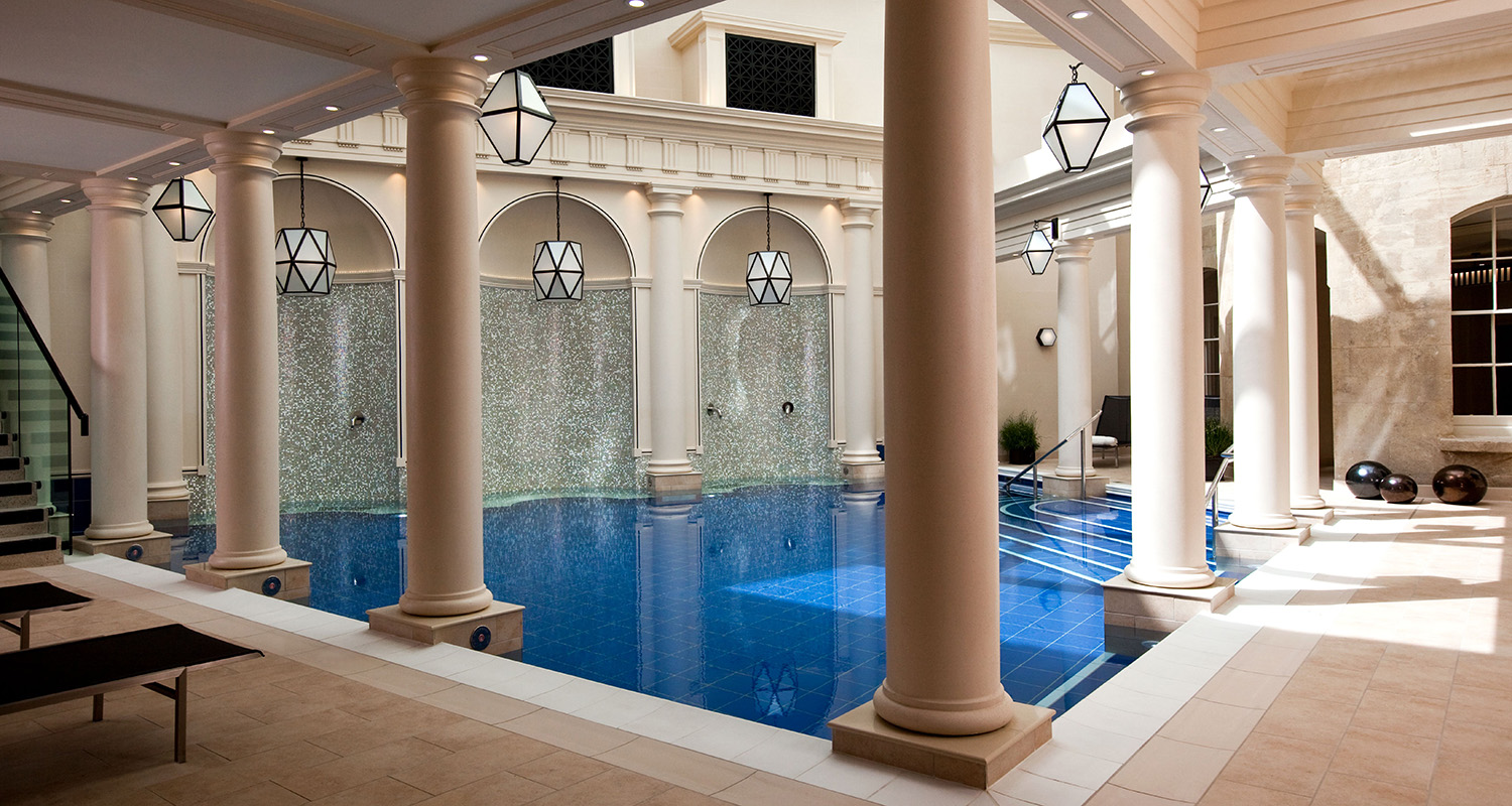 The pools at Gainsborough Bath Spa