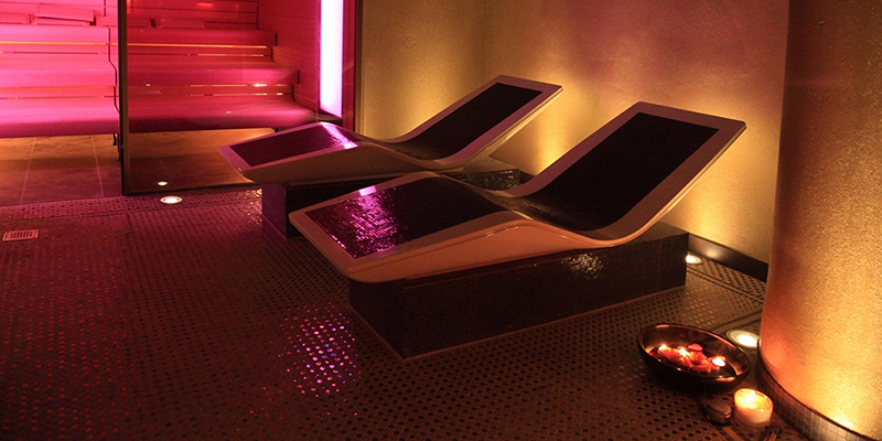 Glittering thermal room at Spa Verta