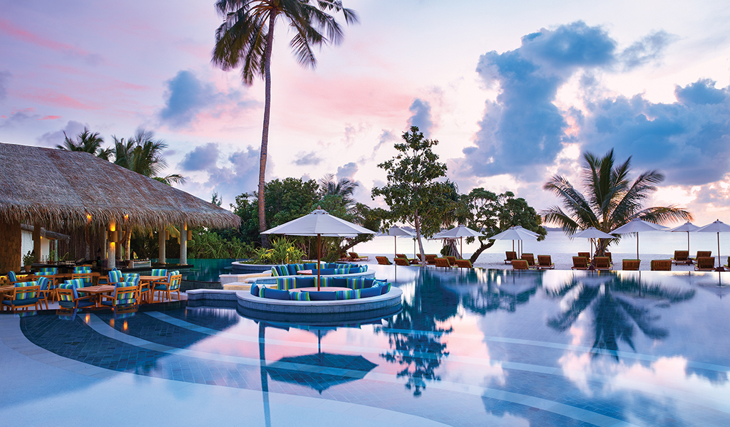 The Main Pool at Six Sense Laamu