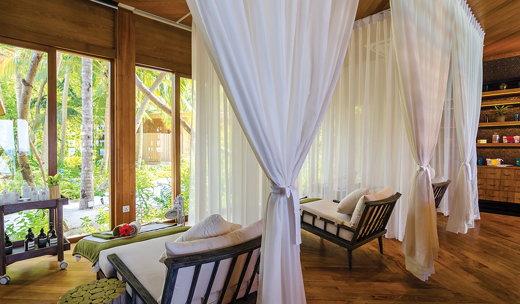 The Manicure and Pedicure house at Amille Fushi Maldives
