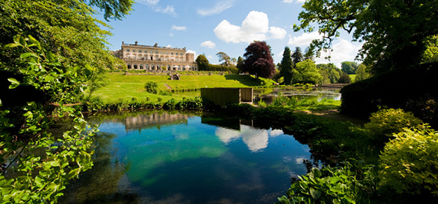 Cowley Manor grounds, lake view