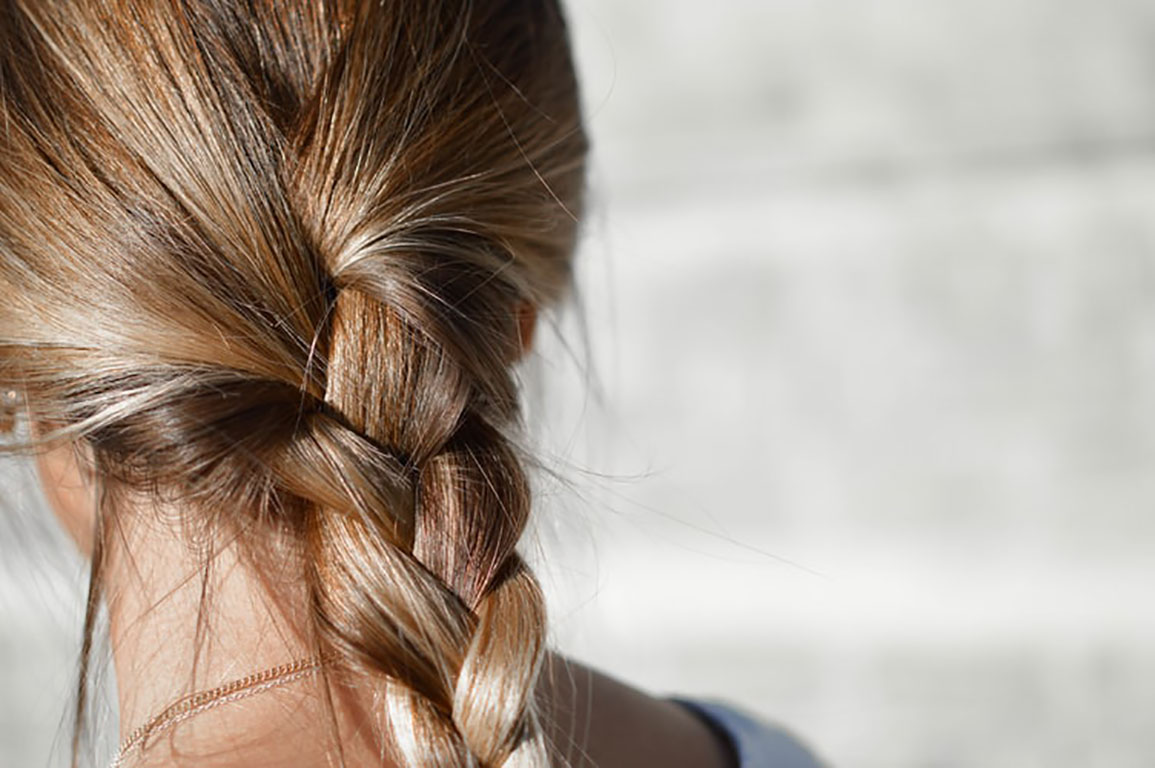 woman with hair braid