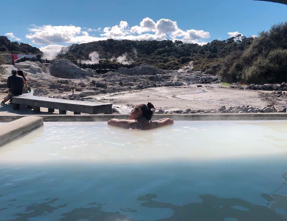Hells Gate mud bath in New Zealand