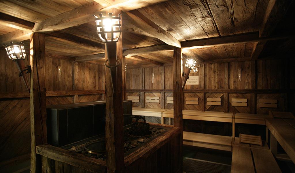 The alpine sauna at Kempinski Grand Hotels des Bains