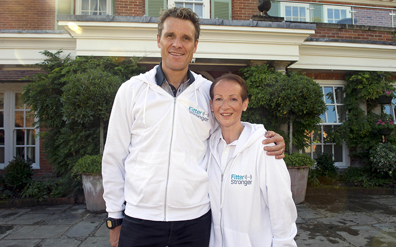James Cracknell with programme founder Paula