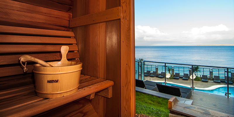 Carbis Bay Sauna sea view
